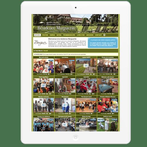 Exemple de création de blog ehpad privé pour les familles