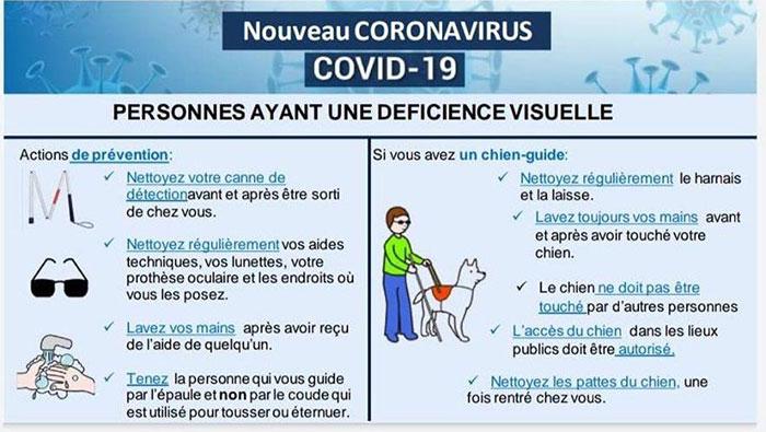 Mesures de prévention en EHPAD : Personnes ayant une déficience visuelle